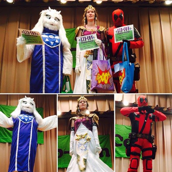 Top Finishers in the Cosplay Contest in the Adult Division