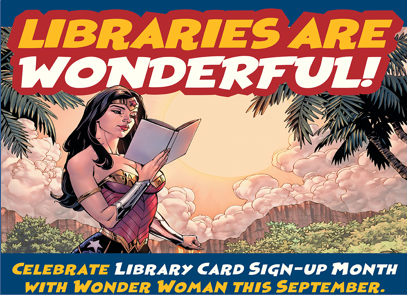 Wonder Woman Reading a Book