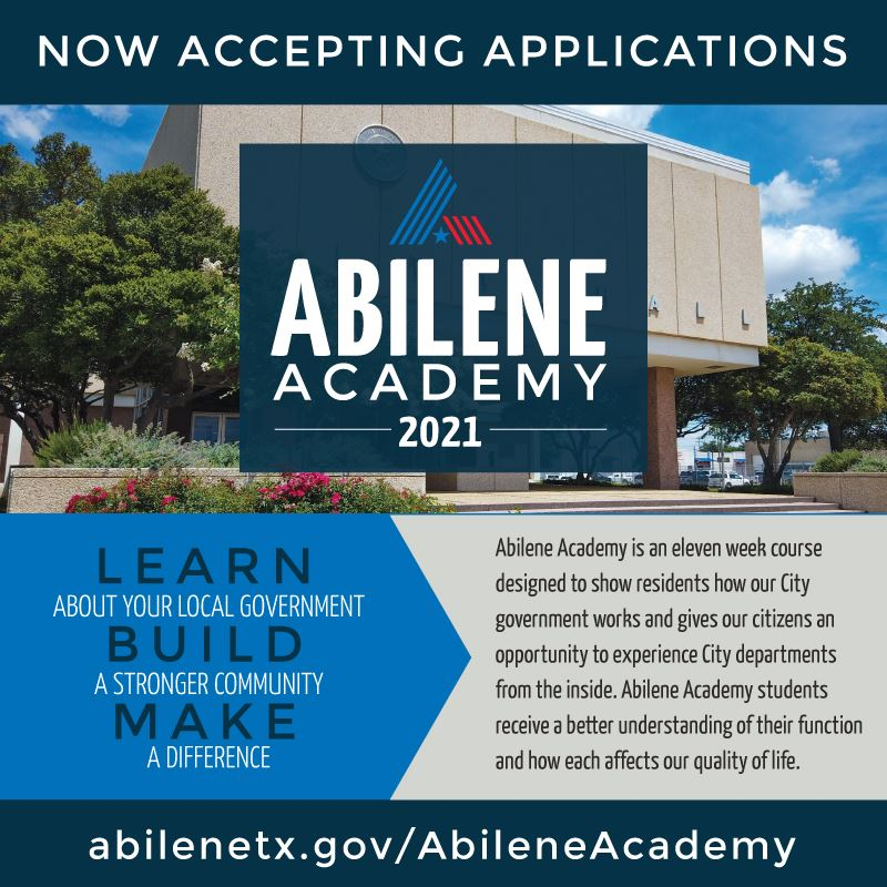 Applications now accepted for Abilene Academy 2021
