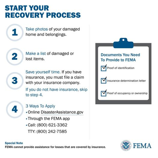 FEMA Assistance through disasterassistance.gov