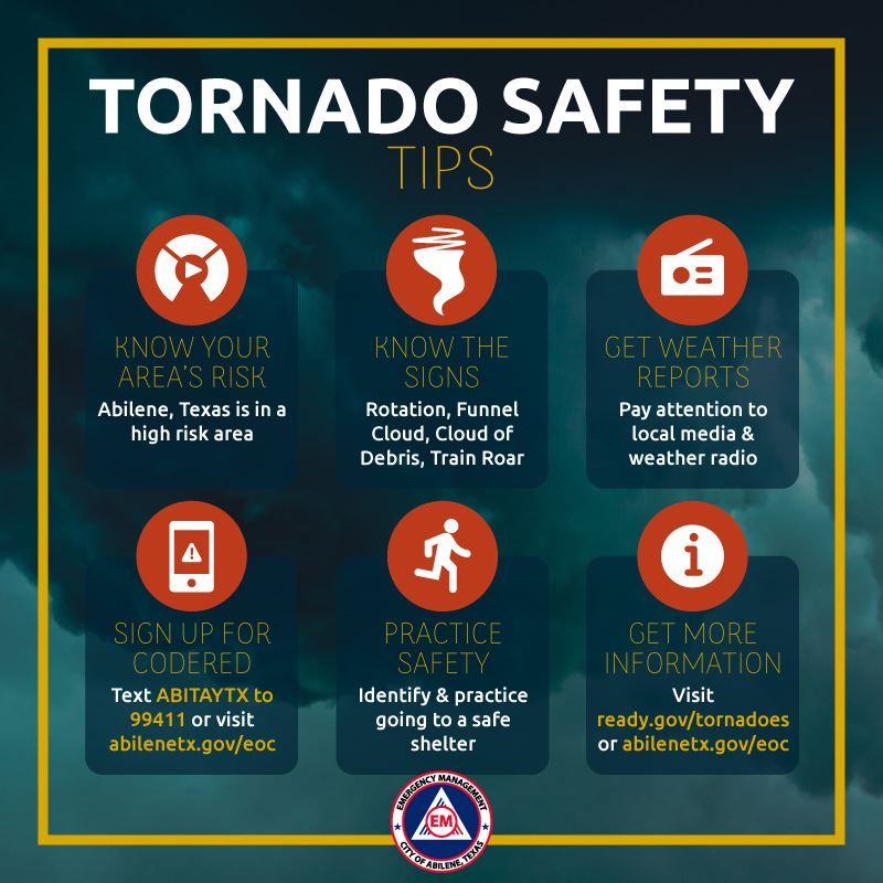 Tornado Safety Tips - Know the signs, practice safety, and keep informed with CodeRED