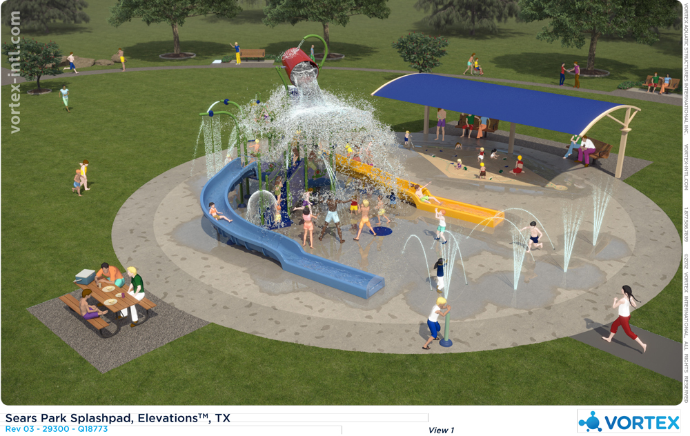 Sears Park Splash Pad Design Rendering