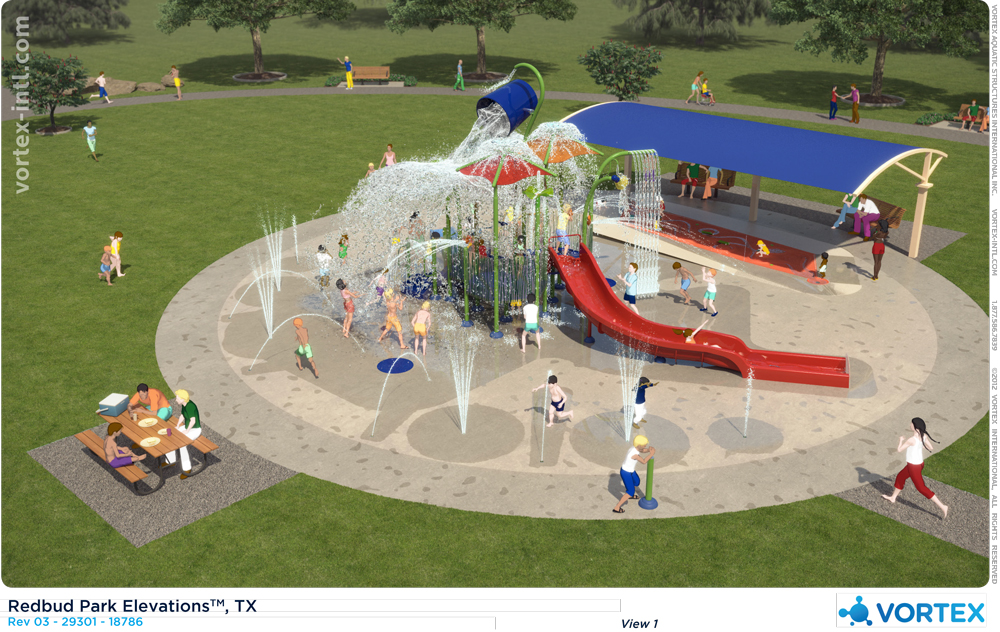 Redbud Park Splash Pad Design Rendering