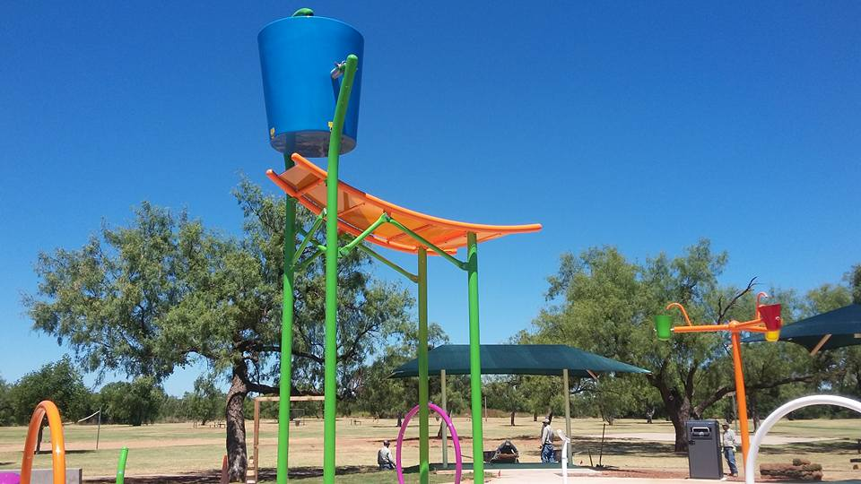 Scarborough Park Splash Pad under construction