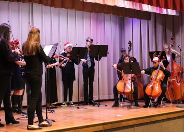 Middle School Orchestra Players in Concert