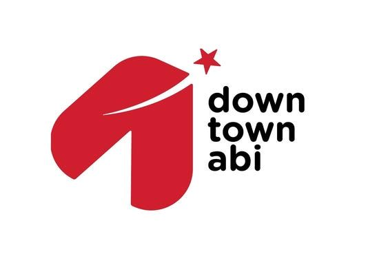 Graphic design image of logo for downtownabi