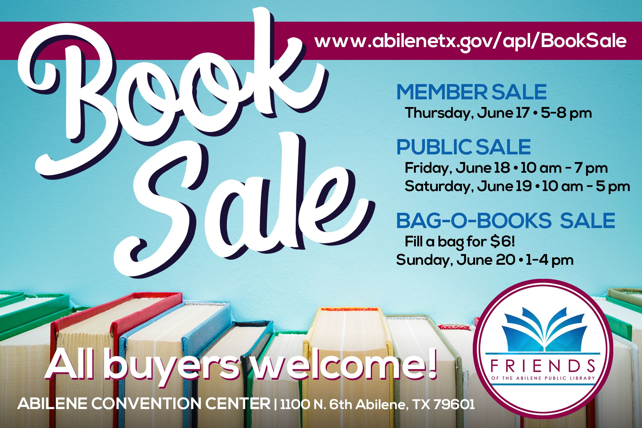 Annual Book Sale Infographic Opens in new window