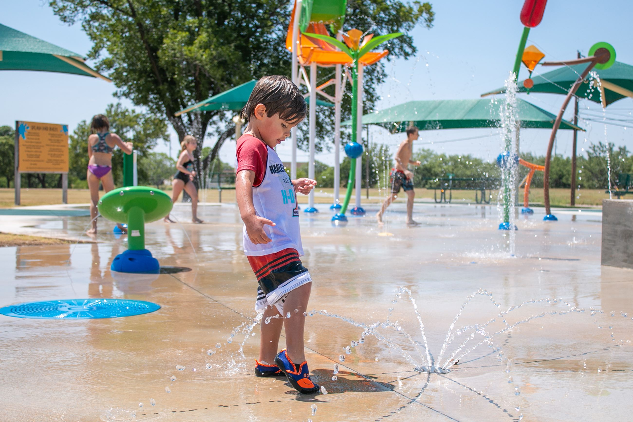 Stevenson Splash Pad in Abilene Texas