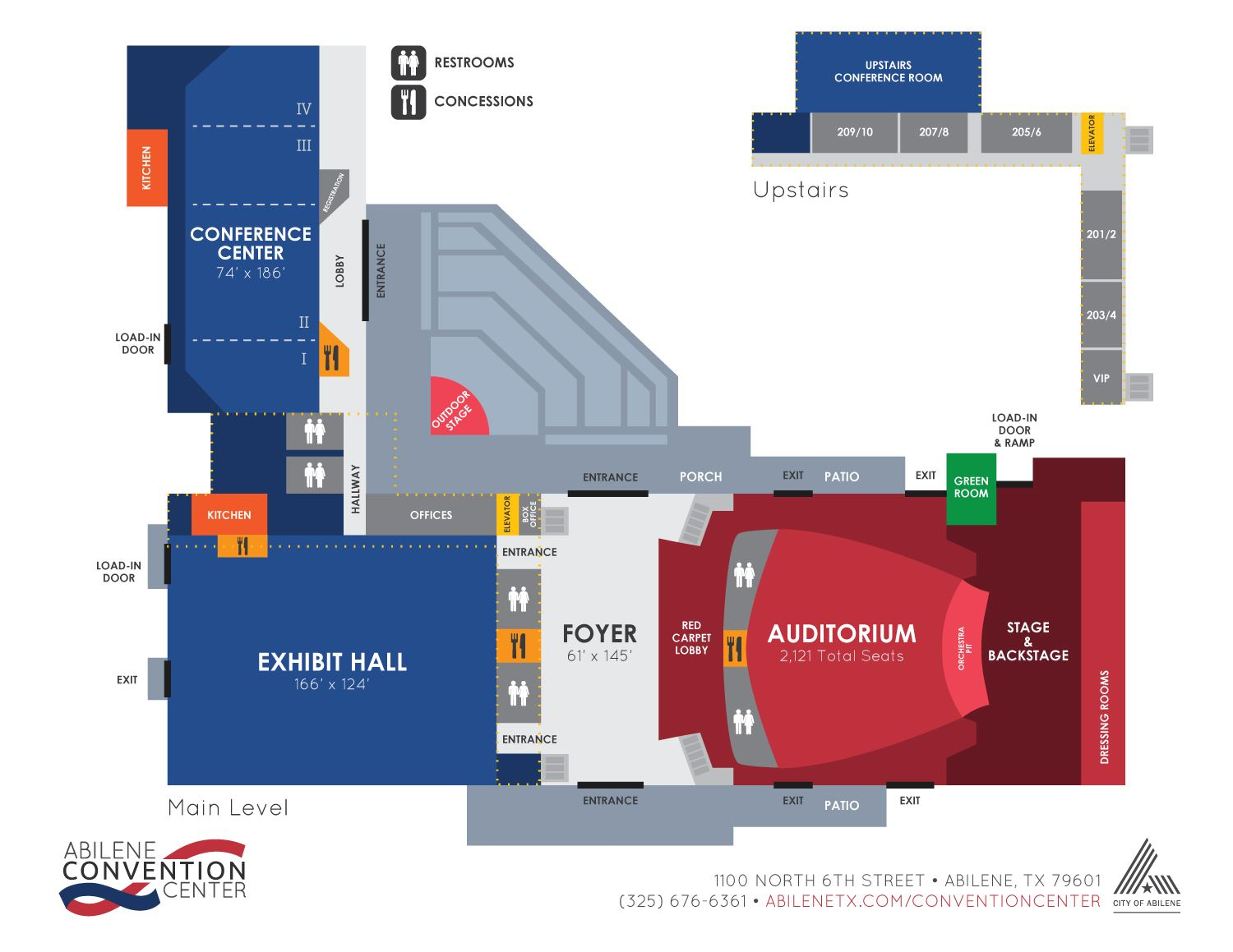 Convention Center Floorplan Layout