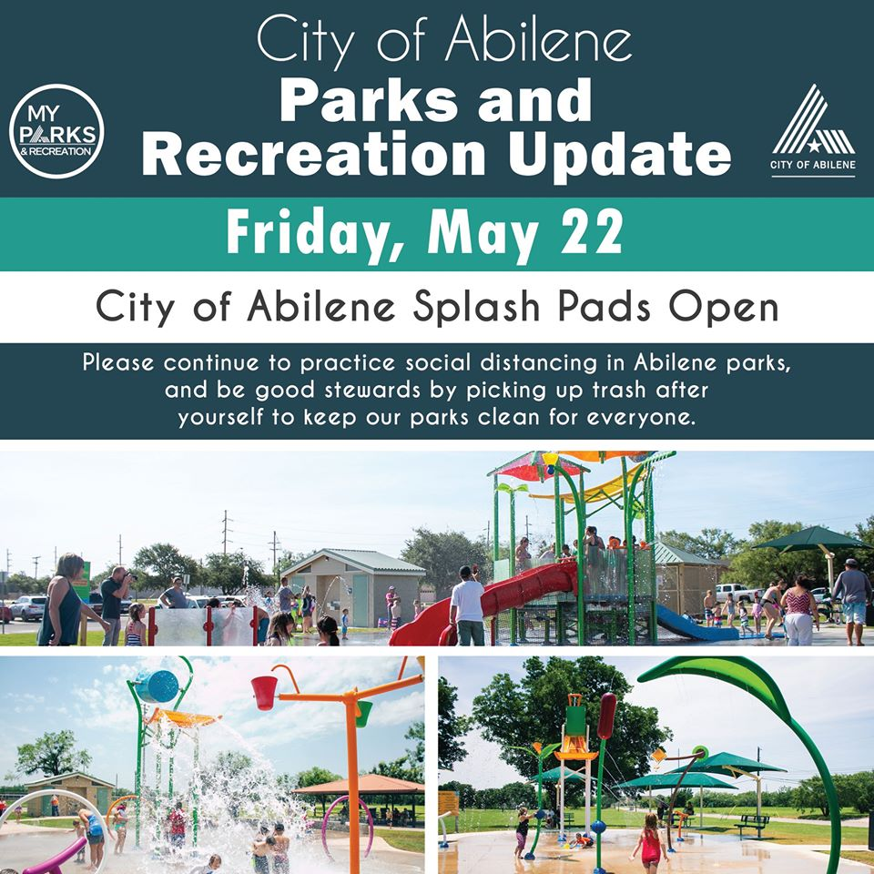 Splash Pads Open Abilene Texas
