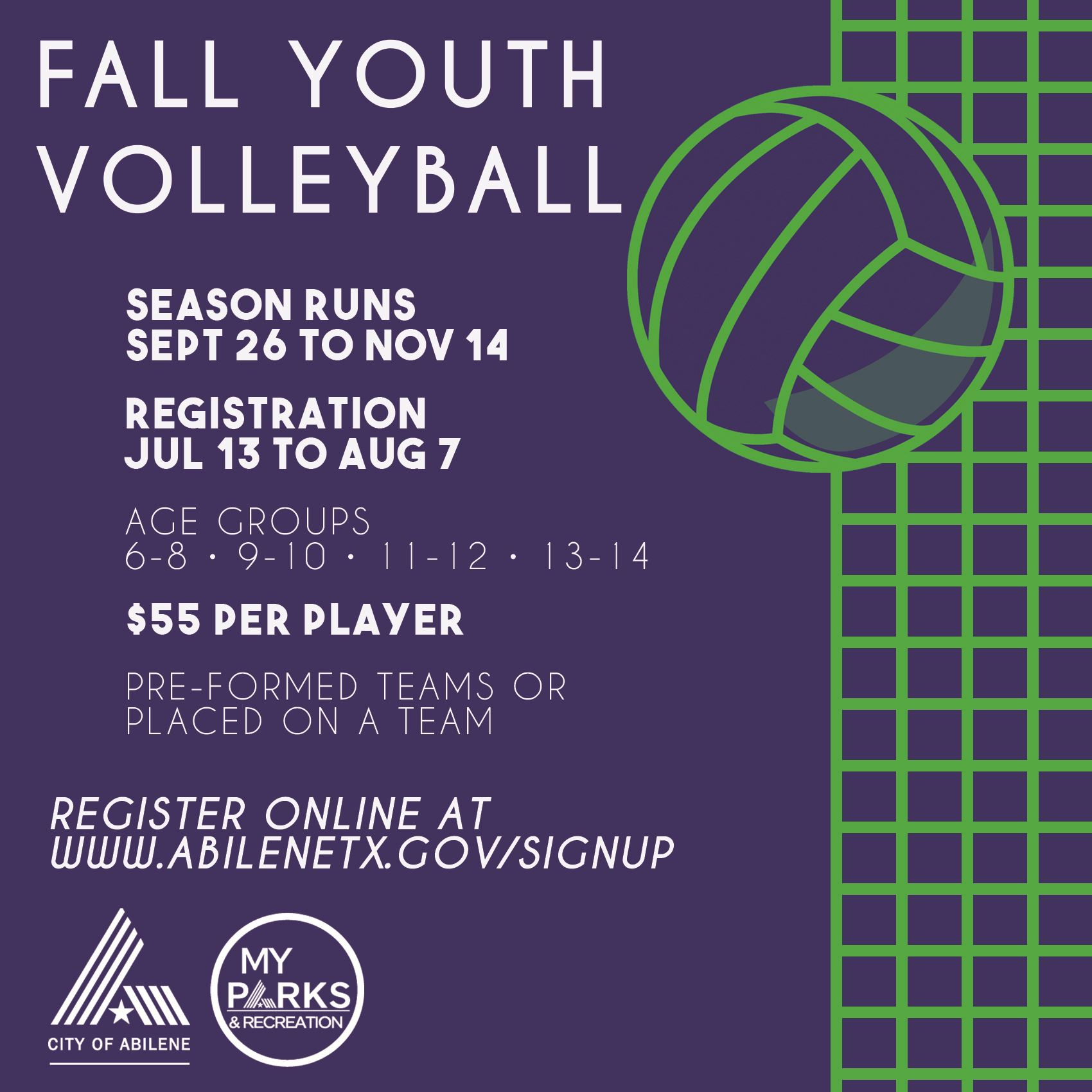 Fall Youth Volleyball 2020 SM
